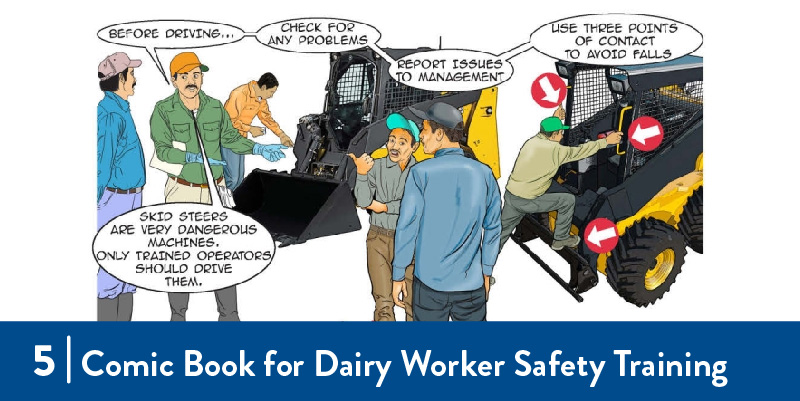 An illustration from the dairy worker comic book