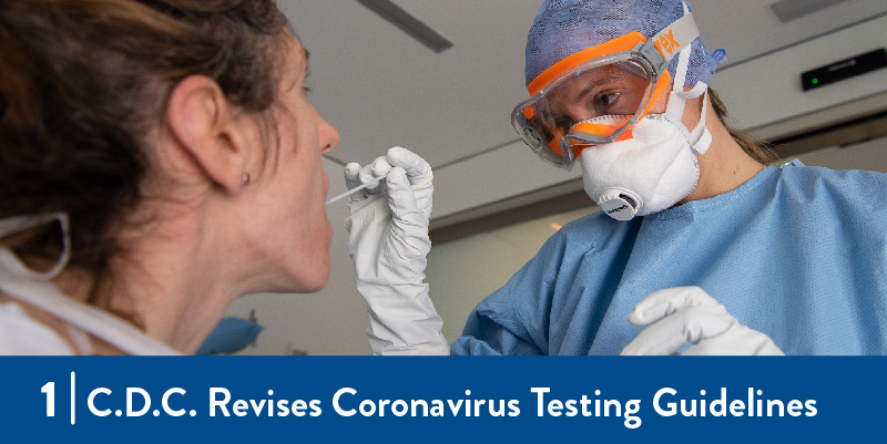 clinician testing someone for COVID-19