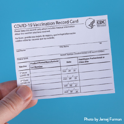 Include the Alias? Skip the Real Name? COVID-19 Vaccination Card Recommendations