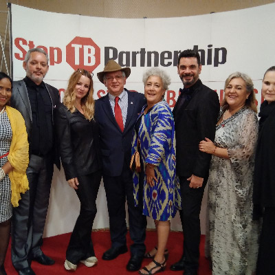 Del Garcia with Stop TB attendees