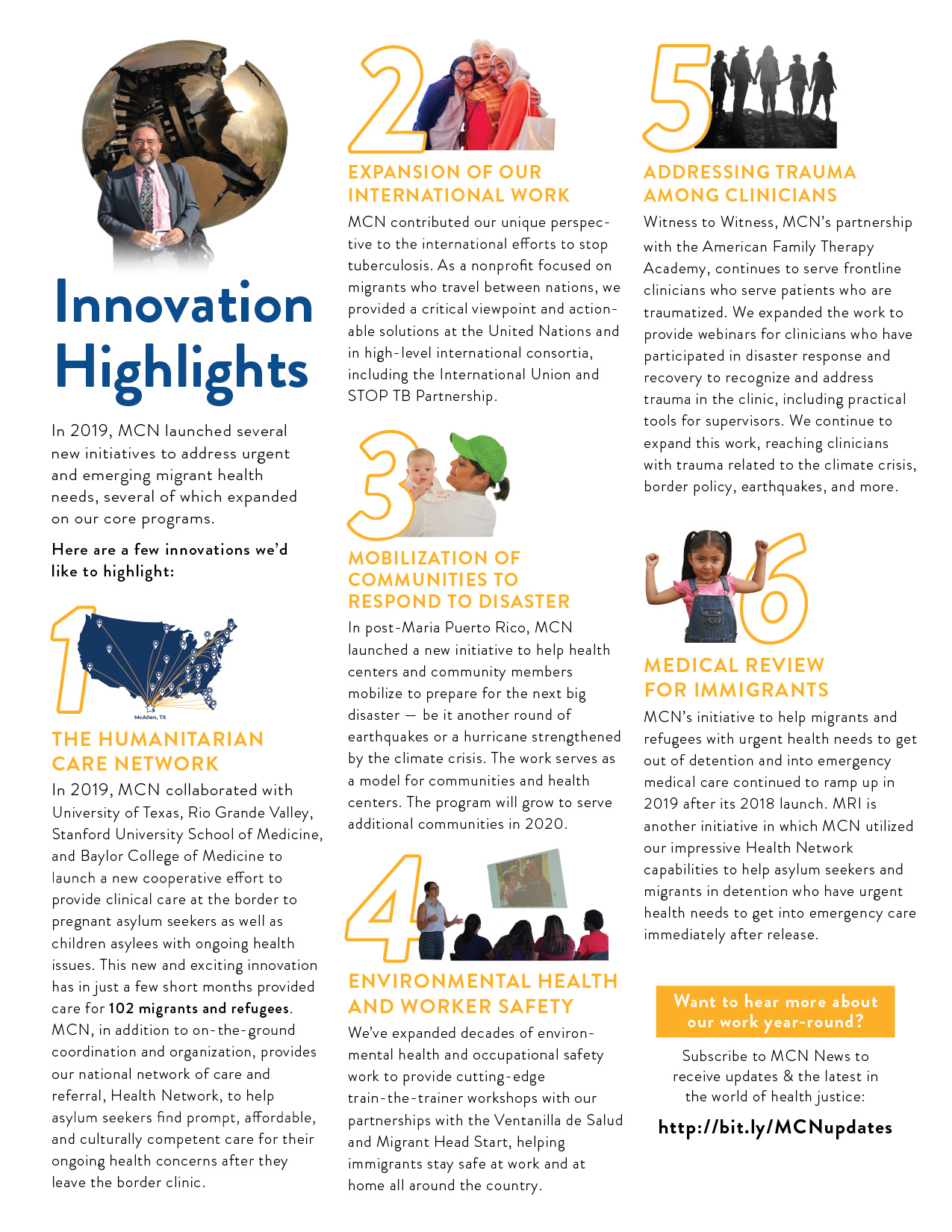 The Innovation Highlights page of the 2019 Year in Review