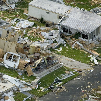 hurricane aftermath destroyed houses