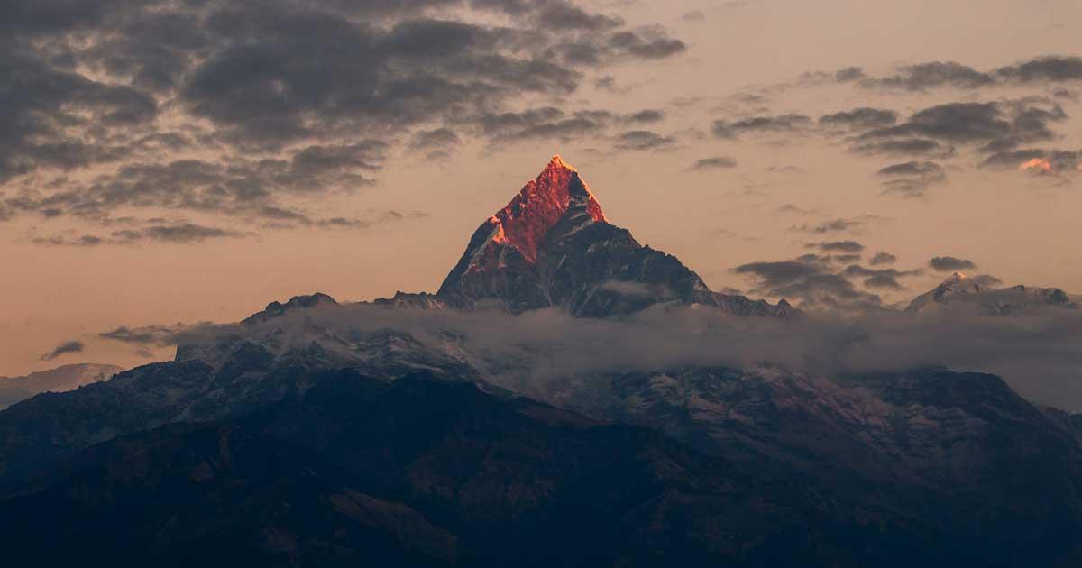 the Himalayas mount Machapuchare, Nepal